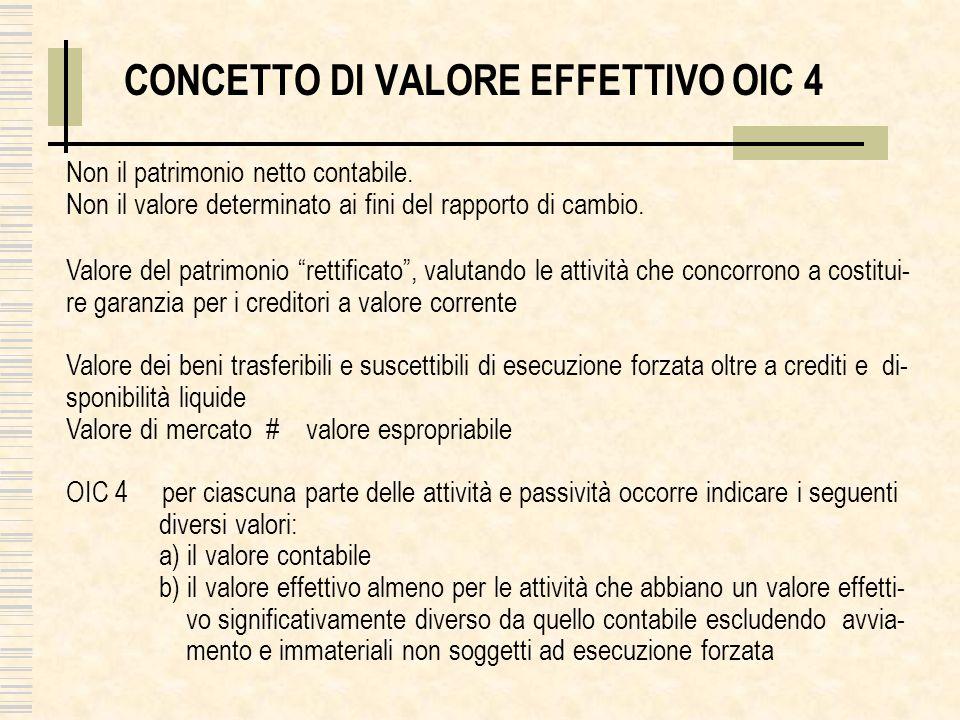 CONCETTO DI VALORE EFFETTIVO OIC 4