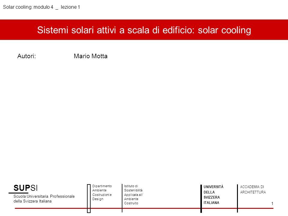 Sistemi solari attivi a scala di edificio: solar cooling