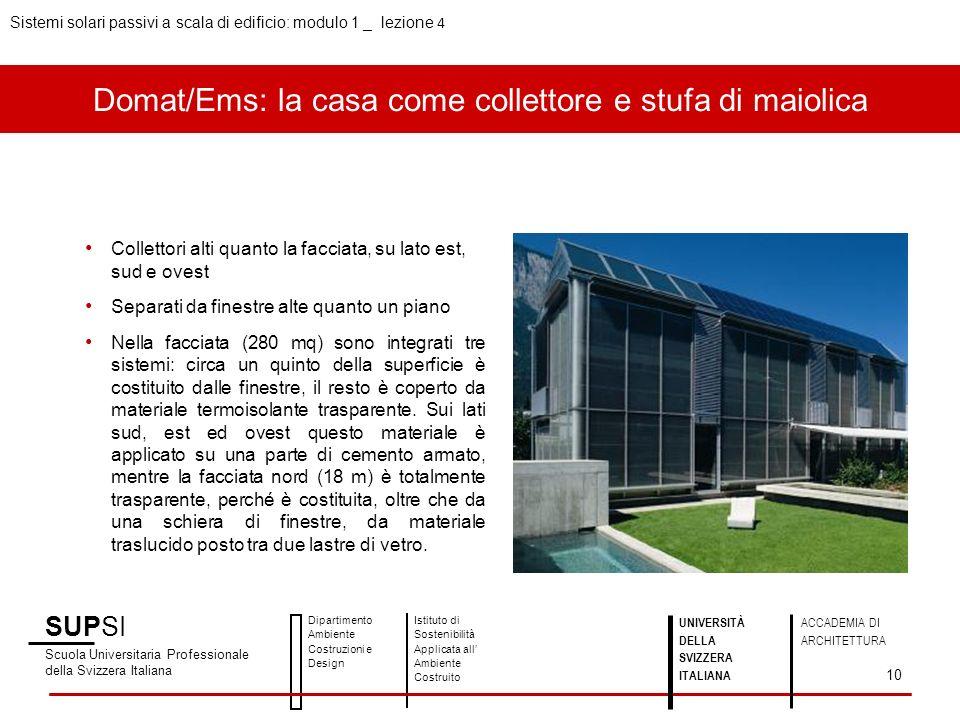 Domat/Ems: la casa come collettore e stufa di maiolica