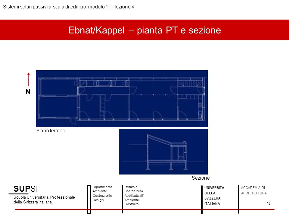 Ebnat/Kappel – pianta PT e sezione