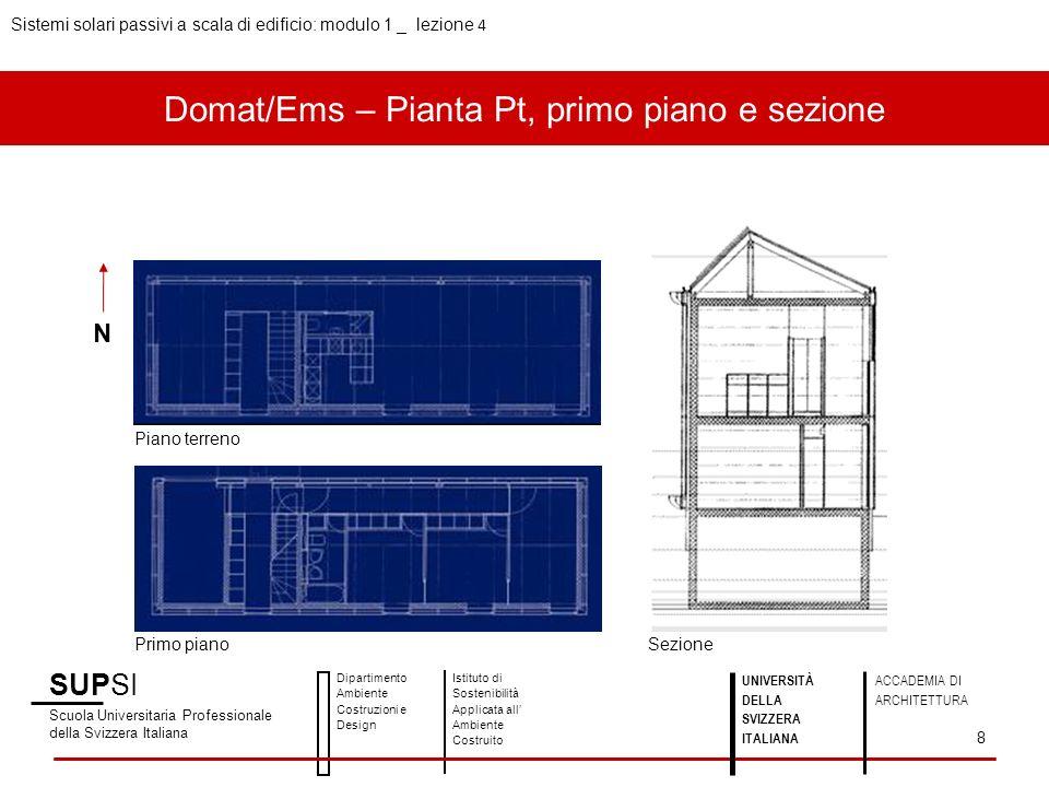 Domat/Ems – Pianta Pt, primo piano e sezione