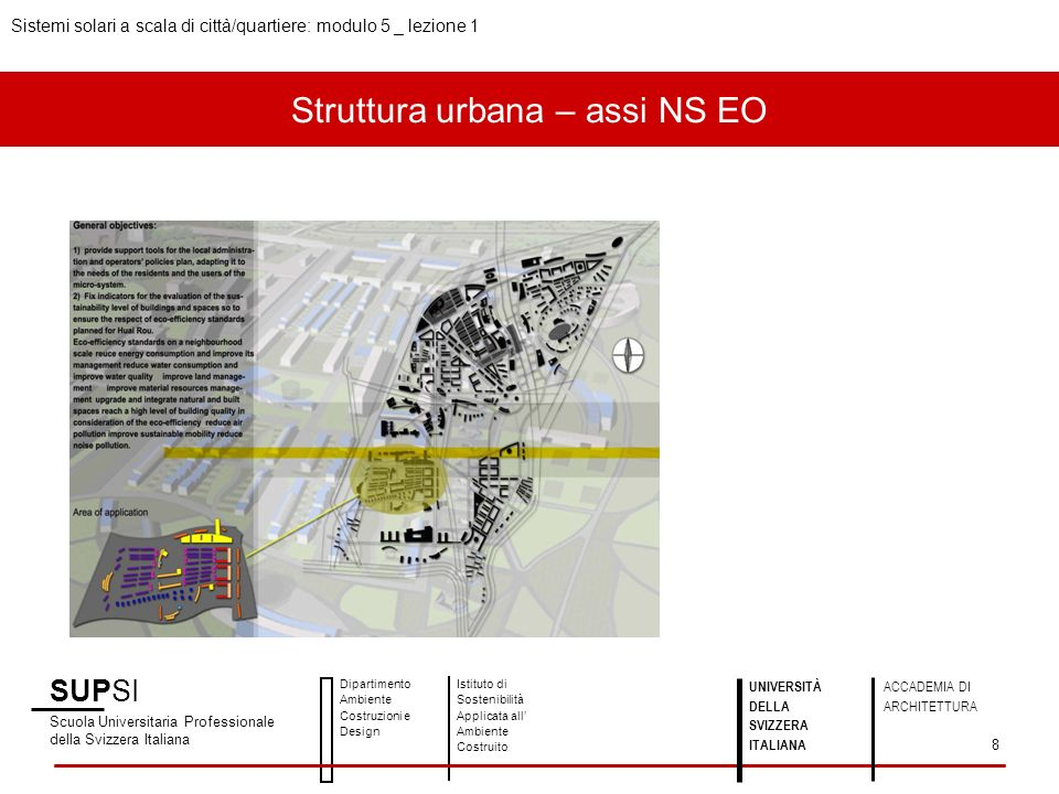 Struttura urbana – assi NS EO