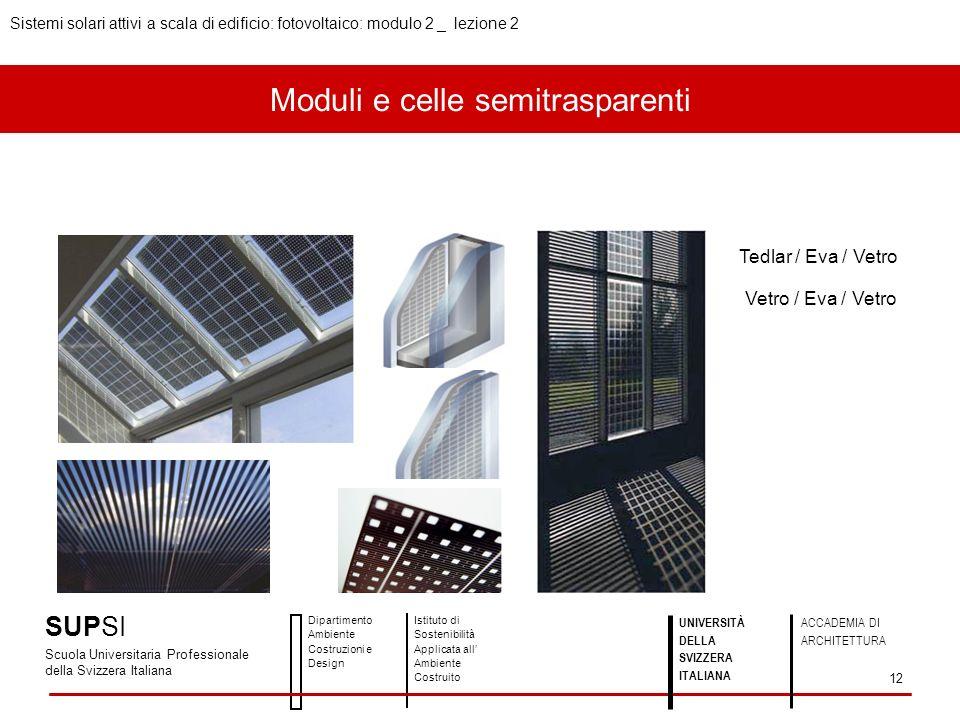 Moduli e celle semitrasparenti
