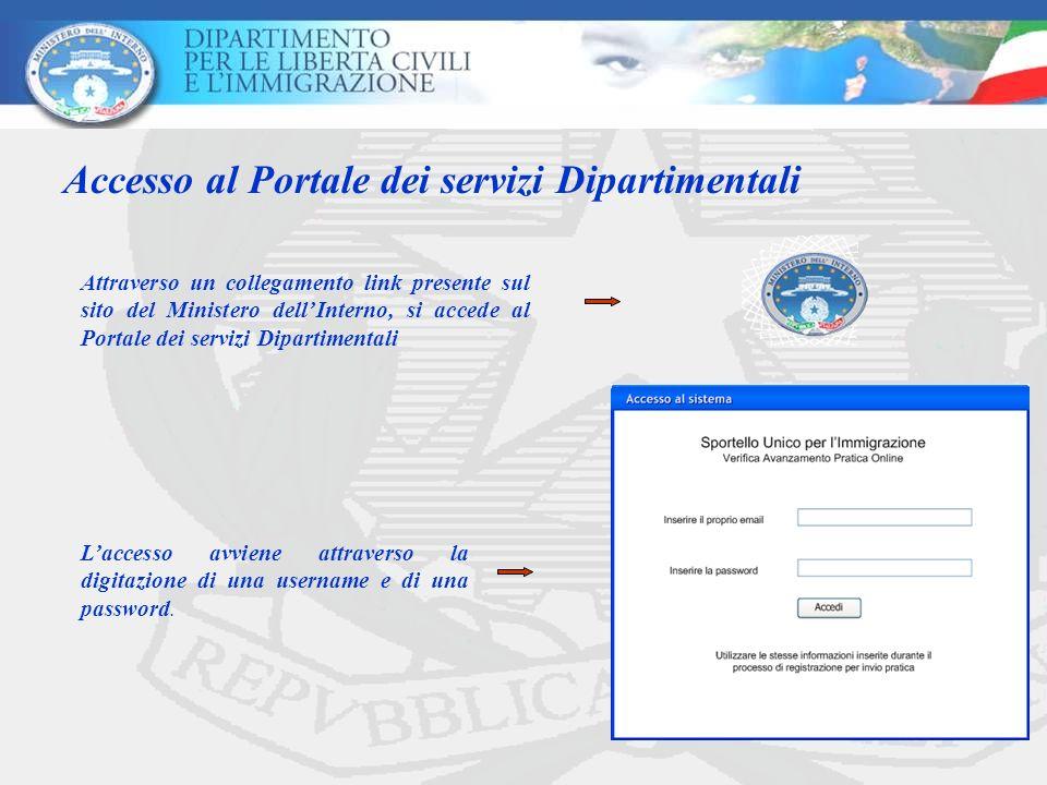 Accesso al Portale dei servizi Dipartimentali