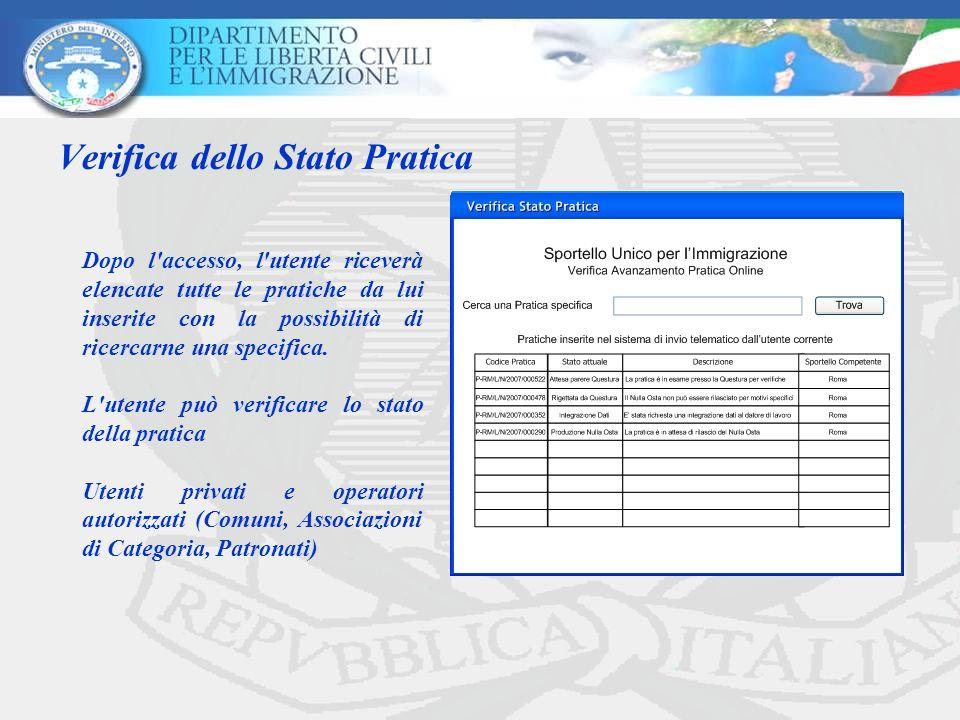 Verifica dello Stato Pratica