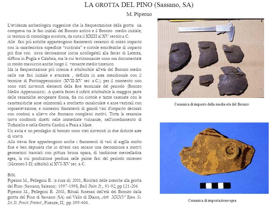 LA GROTTA DEL PINO (Sassano, SA)