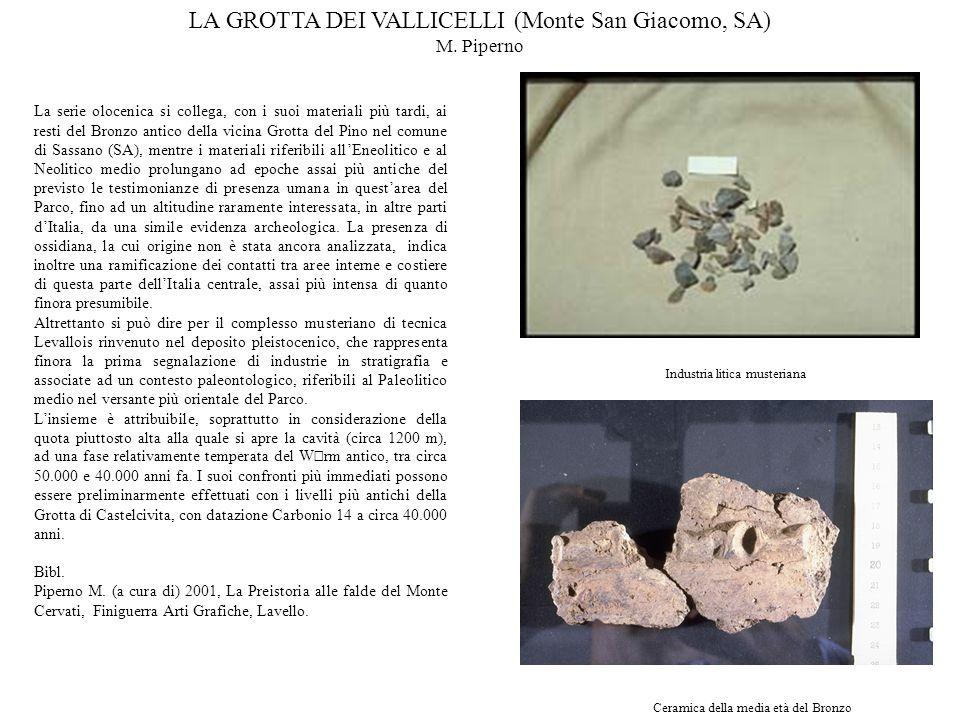 LA GROTTA DEI VALLICELLI (Monte San Giacomo, SA)