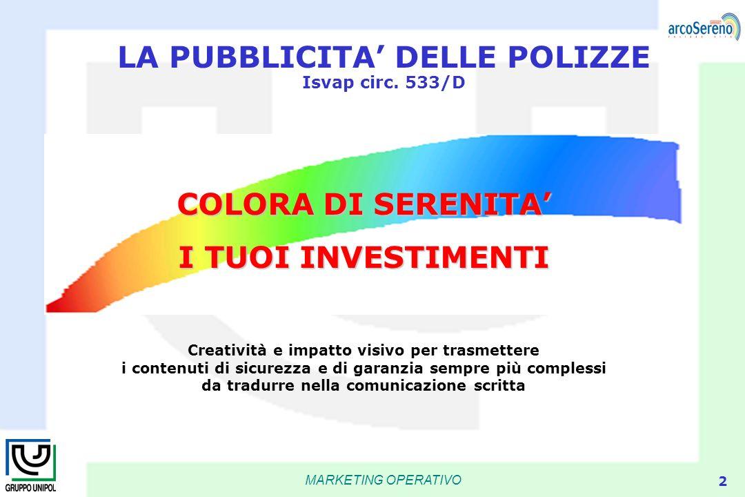 LA PUBBLICITA' DELLE POLIZZE Isvap circ. 533/D