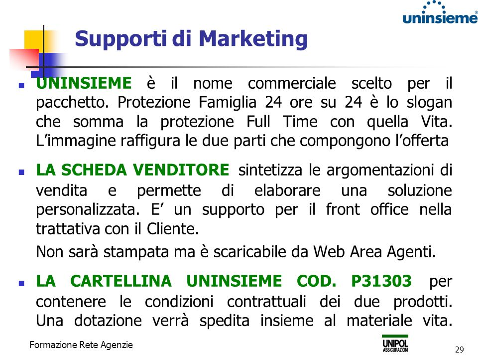 Supporti di Marketing