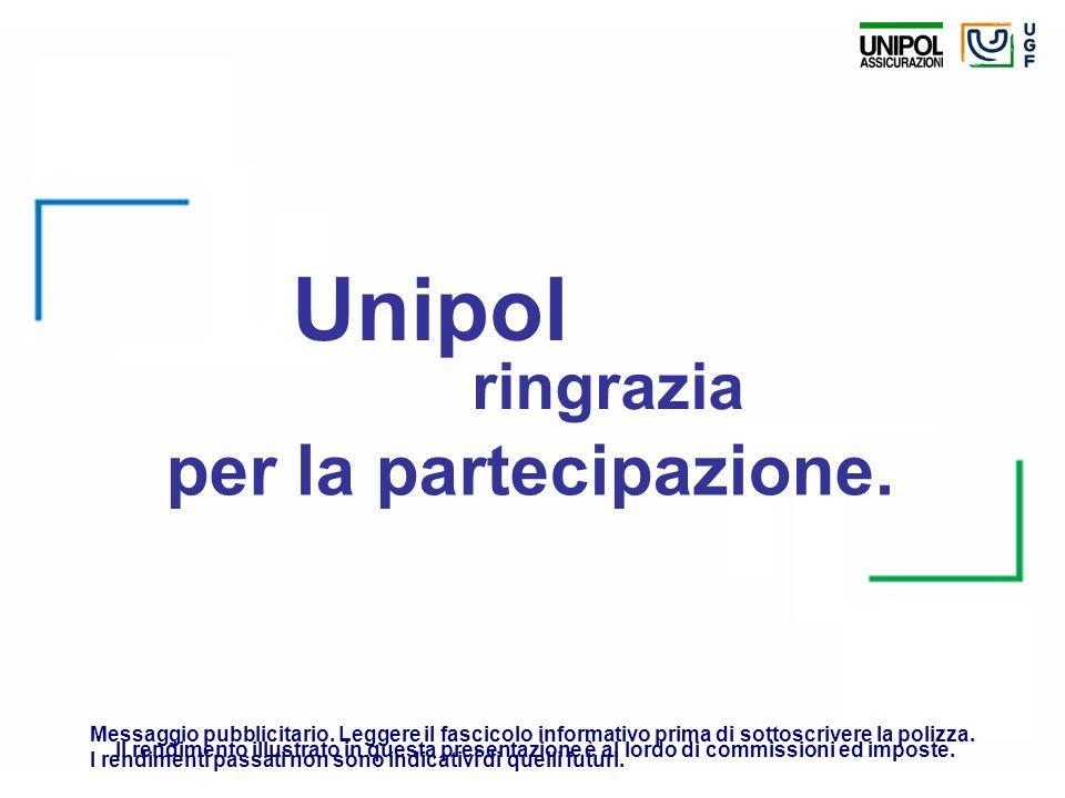 per la partecipazione. ringrazia Unipol