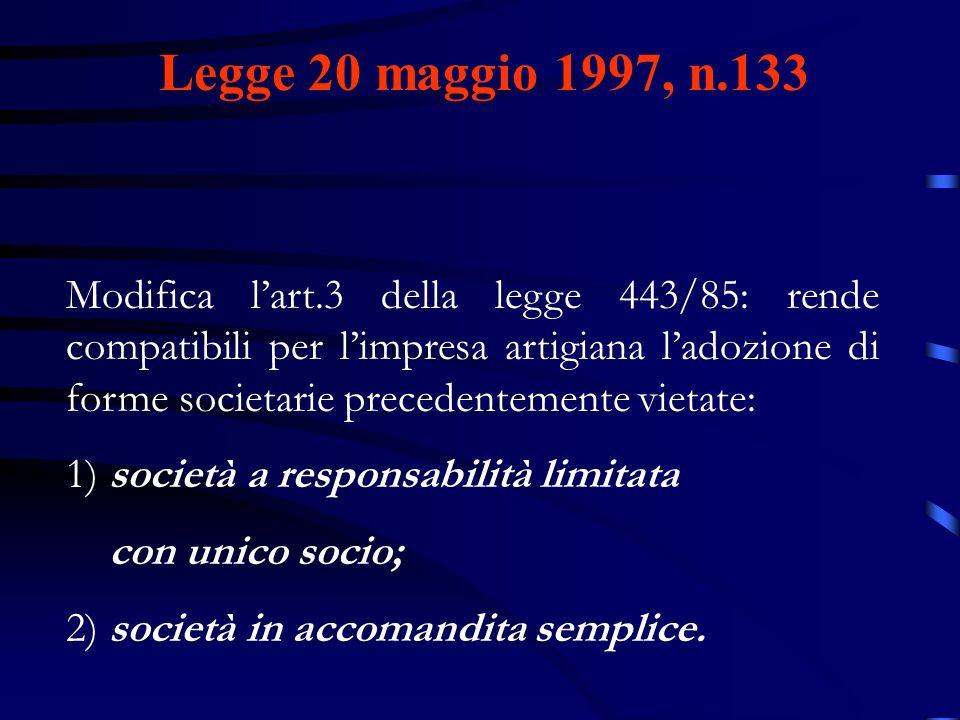 Legge 20 maggio 1997, n.133