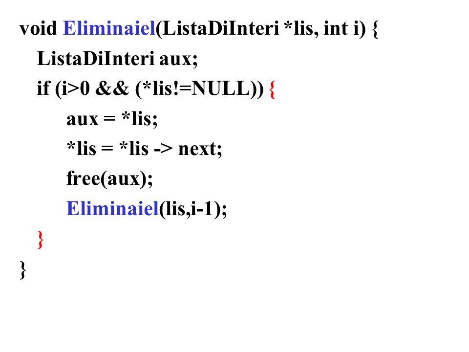 void Eliminaiel(ListaDiInteri *lis, int i) {
