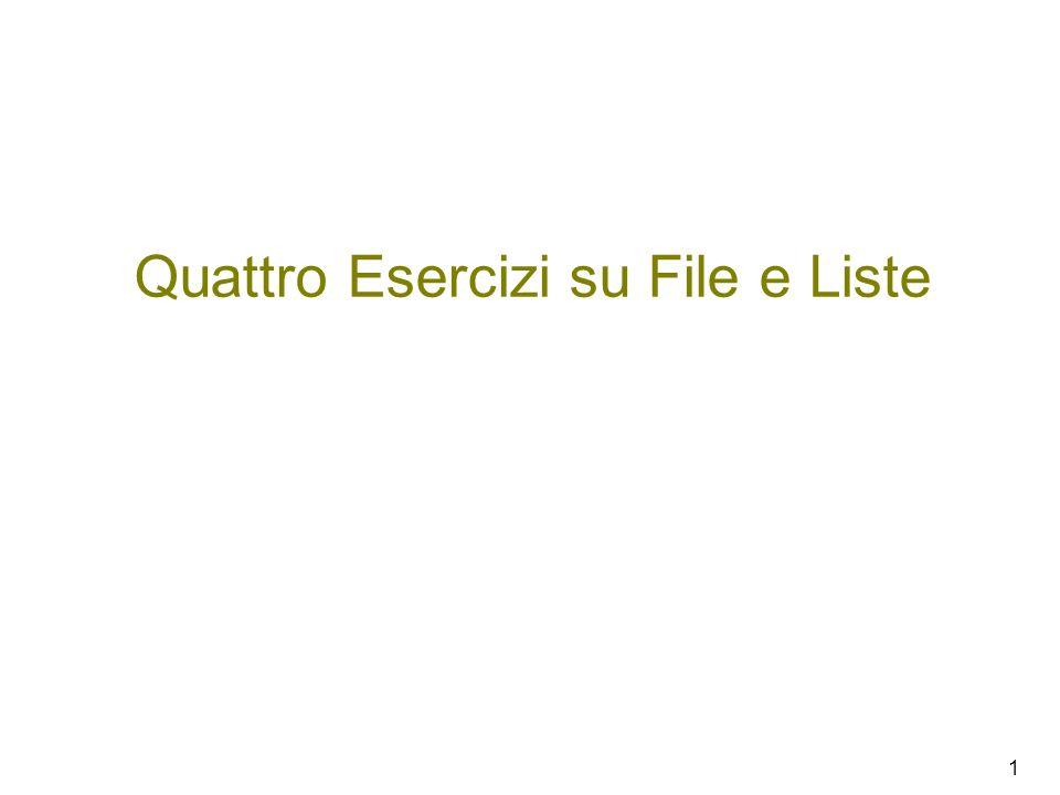Quattro Esercizi su File e Liste