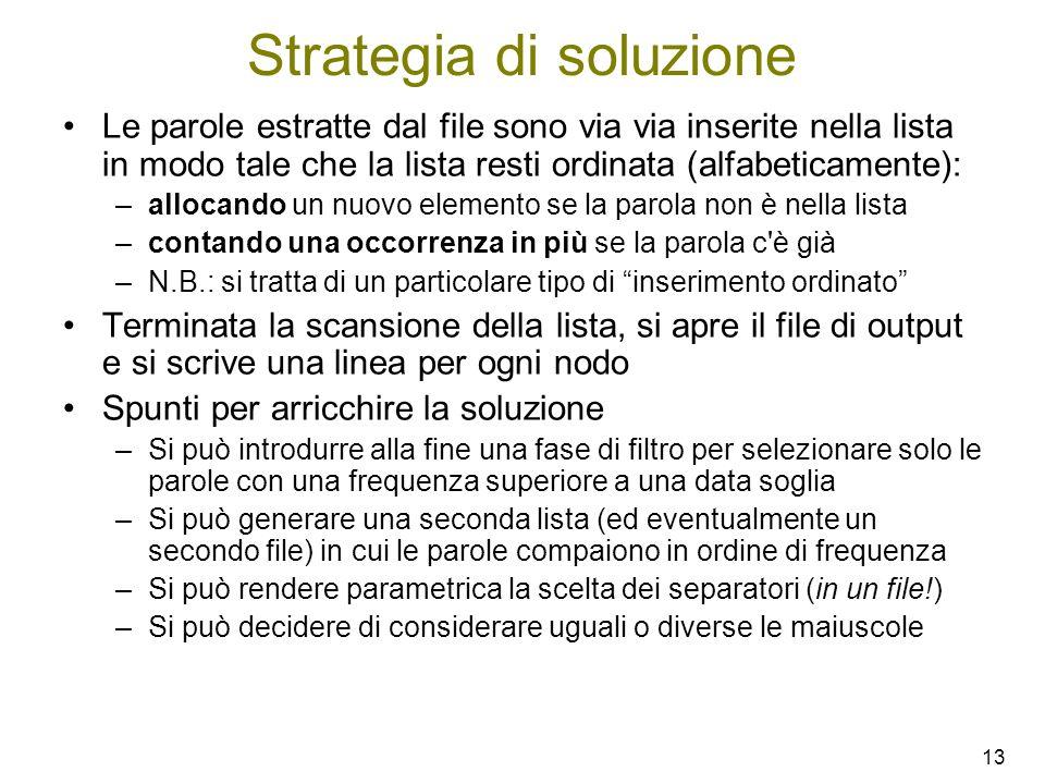 Strategia di soluzione