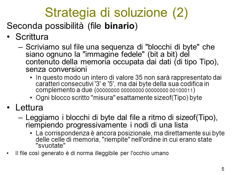Strategia di soluzione (2)