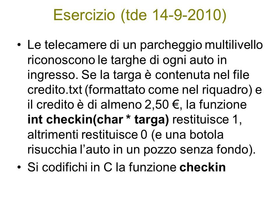Esercizio (tde 14-9-2010)
