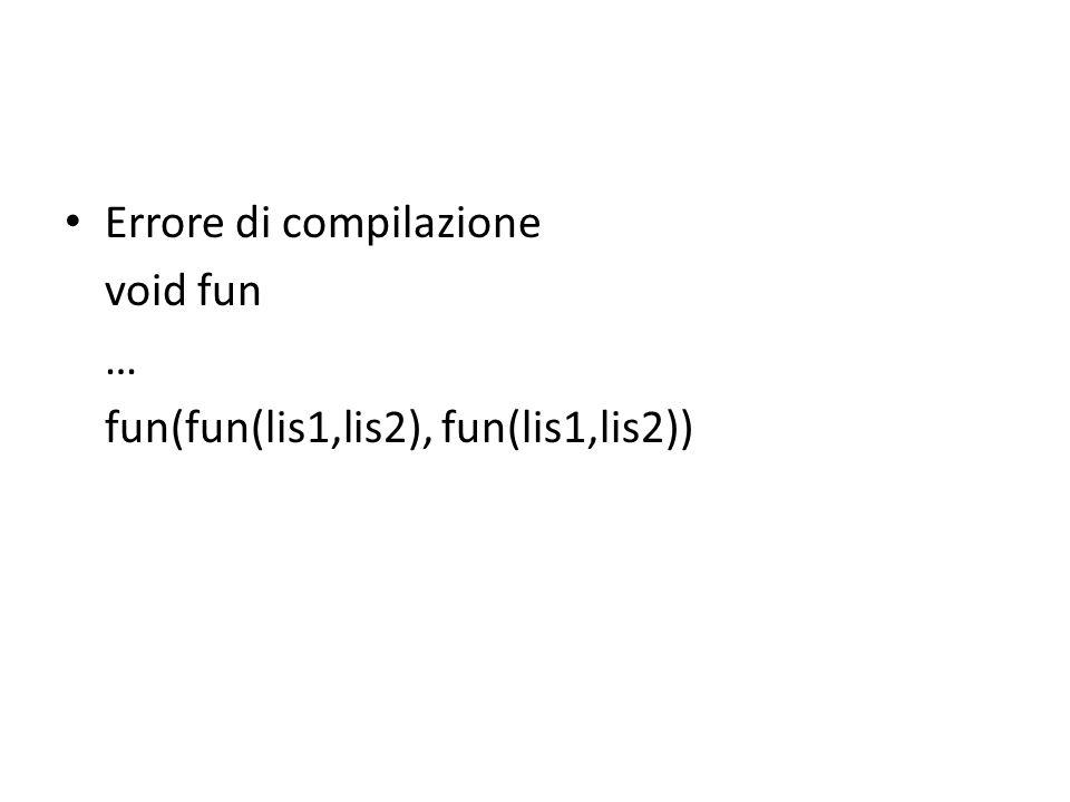 Errore di compilazione