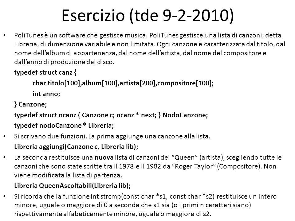 Esercizio (tde 9-2-2010)