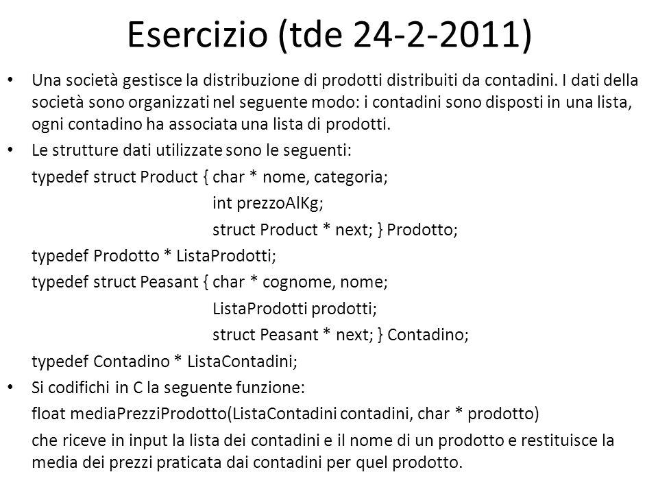 Esercizio (tde 24-2-2011)