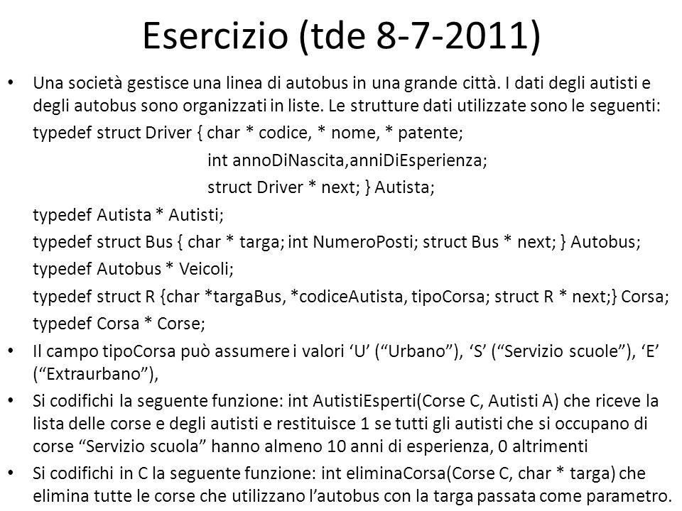 Esercizio (tde 8-7-2011)