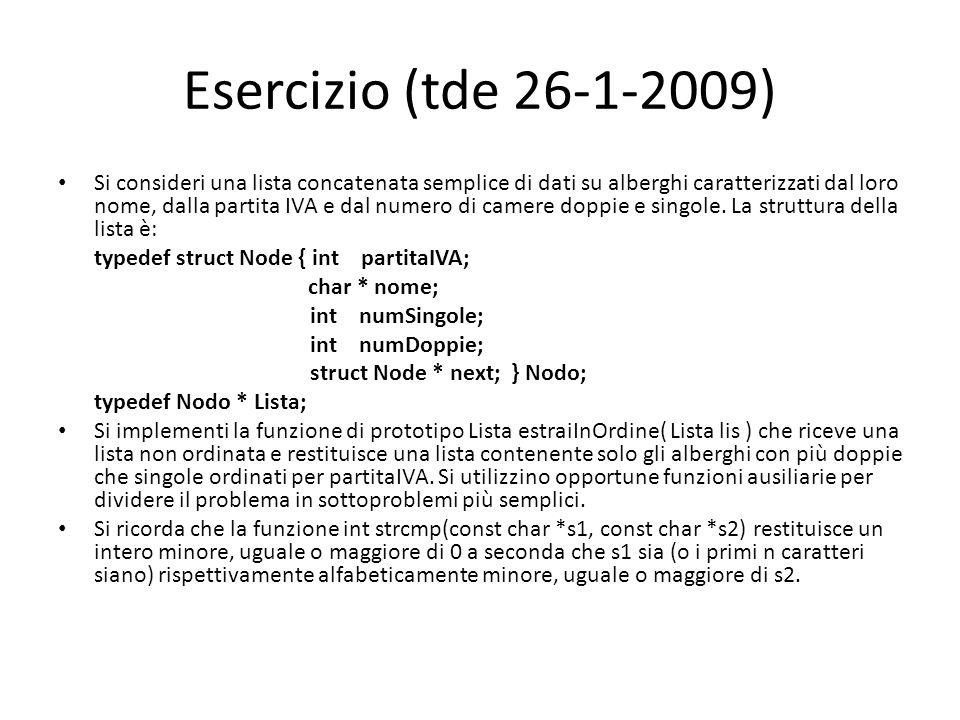 Esercizio (tde 26-1-2009)