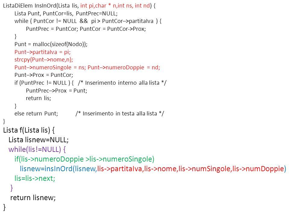 if(lis->numeroDoppie >lis->numeroSingole)