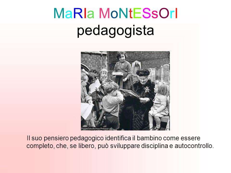 MaRIa MoNtESsOrI pedagogista