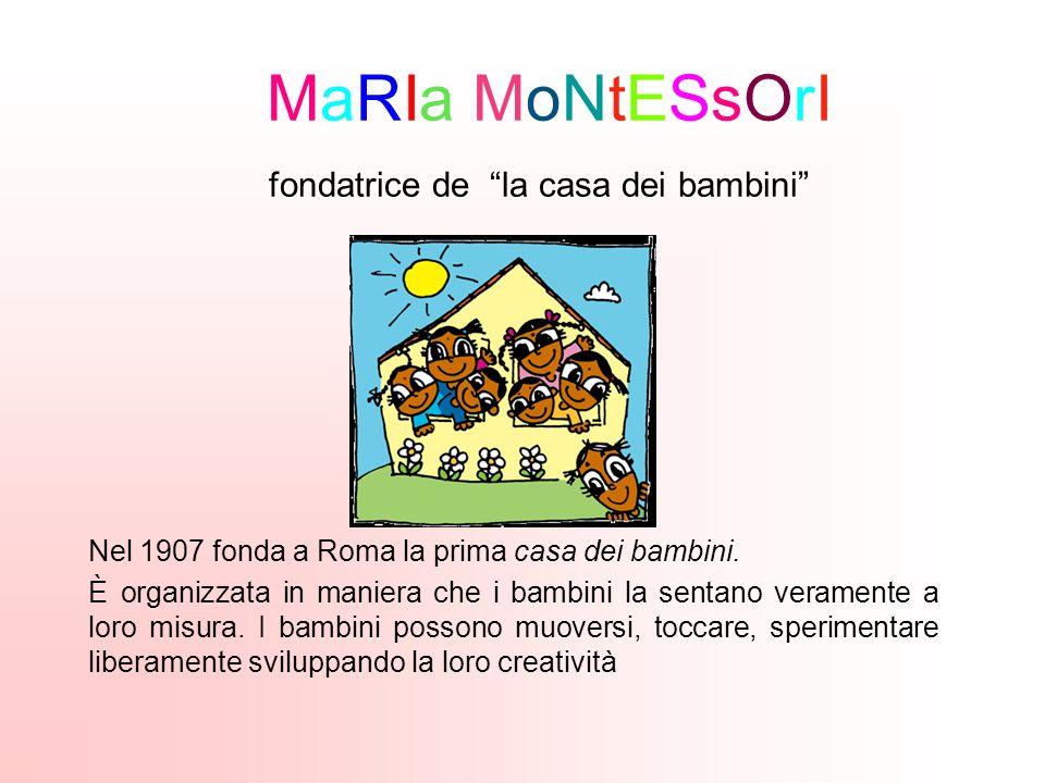 MaRIa MoNtESsOrI fondatrice de la casa dei bambini