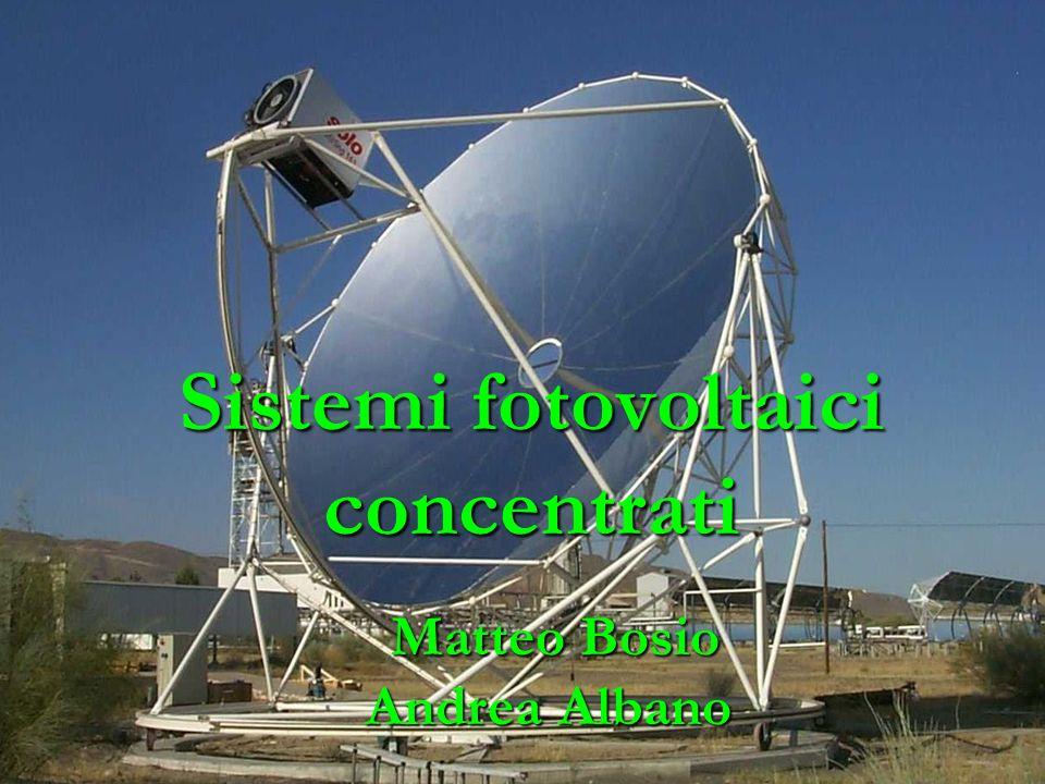 Sistemi fotovoltaici concentrati