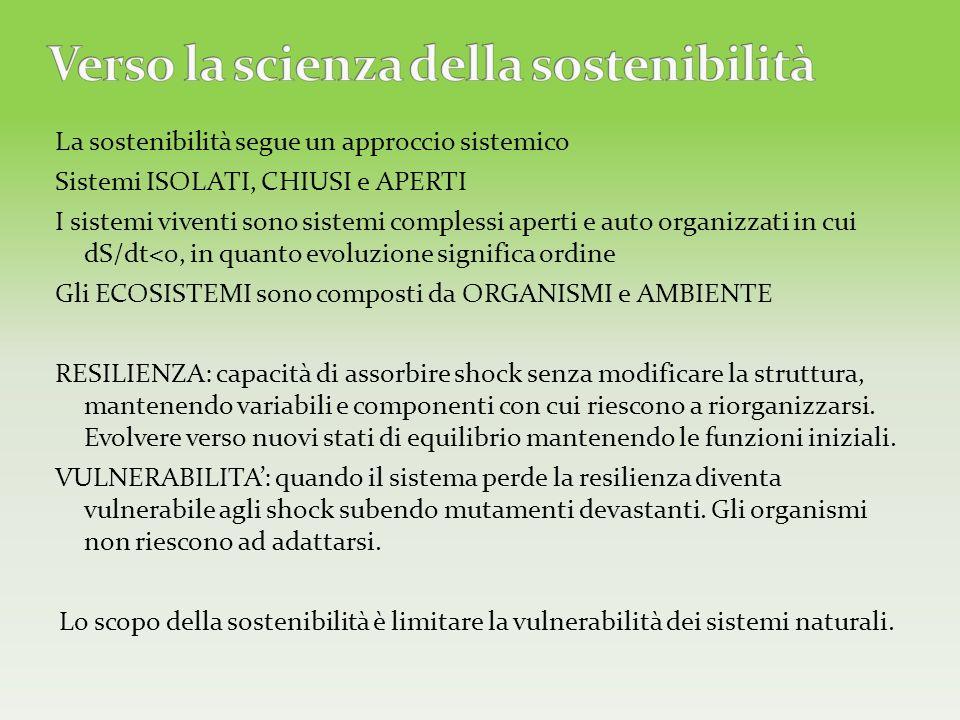 Verso la scienza della sostenibilità