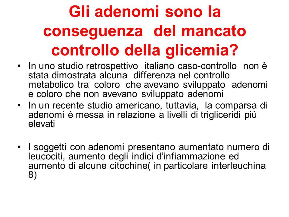 Gli adenomi sono la conseguenza del mancato controllo della glicemia