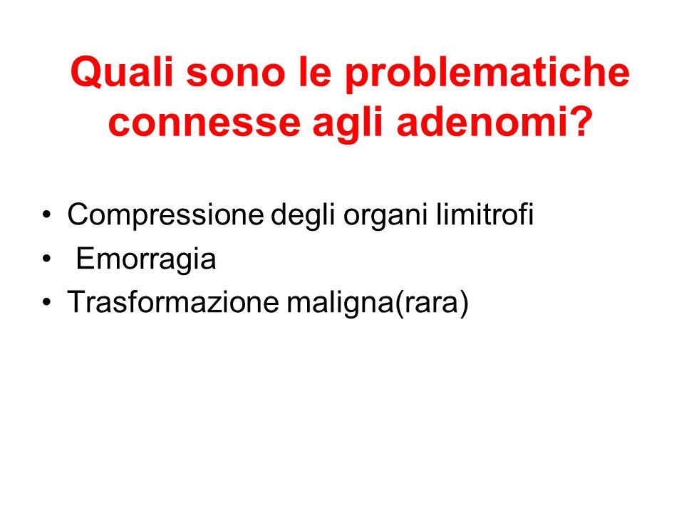 Quali sono le problematiche connesse agli adenomi
