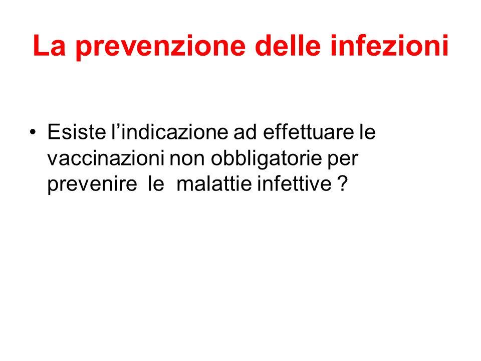 La prevenzione delle infezioni
