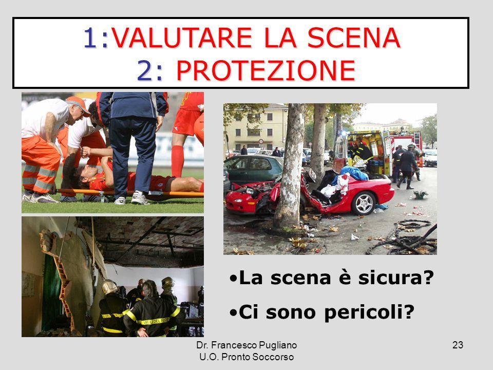 1:VALUTARE LA SCENA 2: PROTEZIONE La scena è sicura Ci sono pericoli