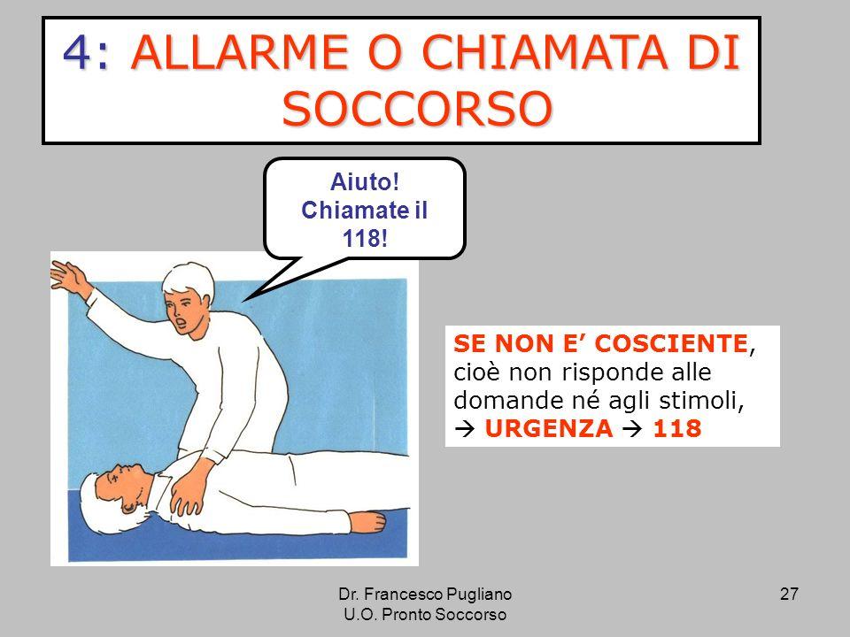 4: ALLARME O CHIAMATA DI SOCCORSO