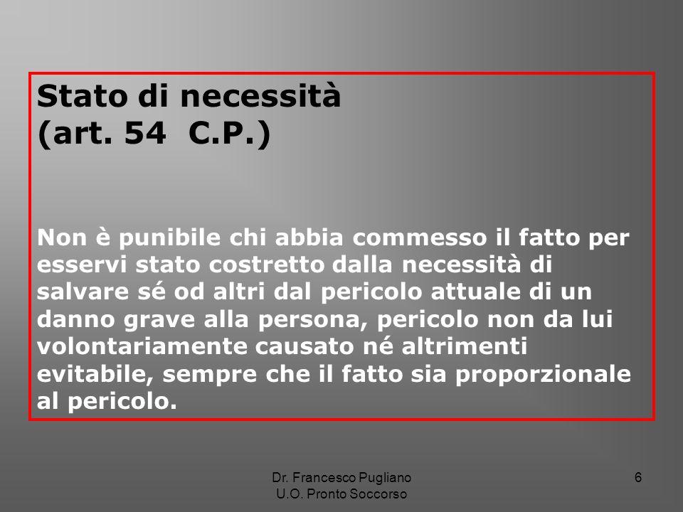 Stato di necessità (art. 54 C.P.)