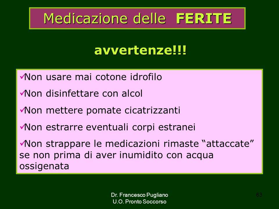 Medicazione delle FERITE