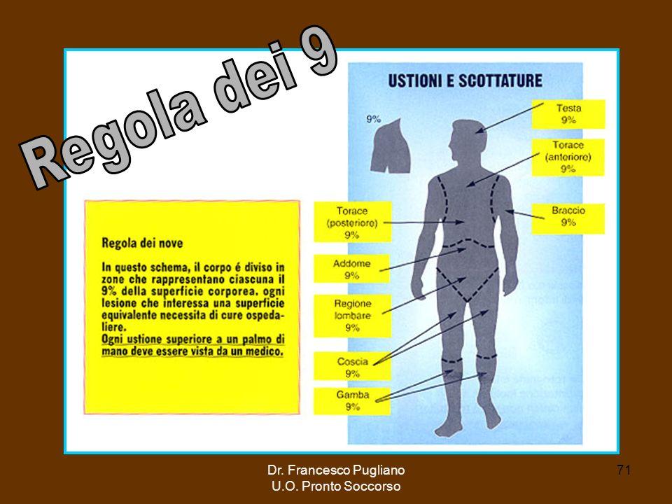 Regola dei 9 Dr. Francesco Pugliano U.O. Pronto Soccorso