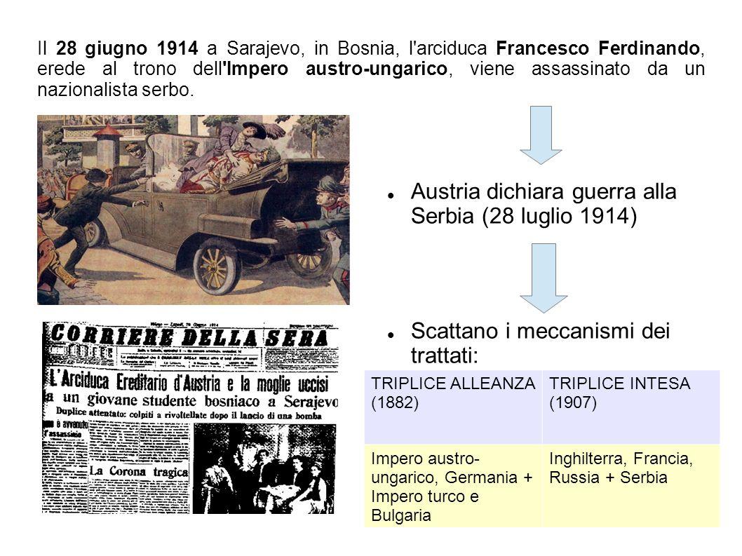 Austria dichiara guerra alla Serbia (28 luglio 1914)