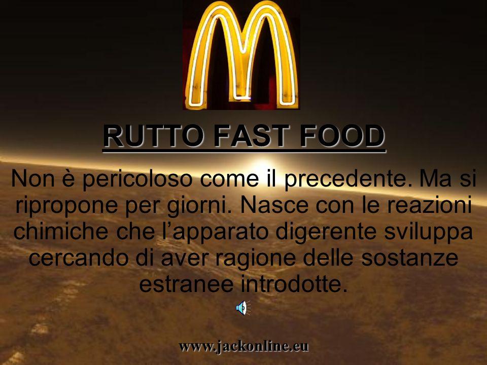 RUTTO FAST FOOD Non è pericoloso come il precedente