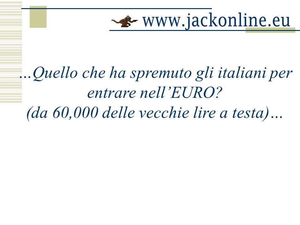 …Quello che ha spremuto gli italiani per entrare nell'EURO