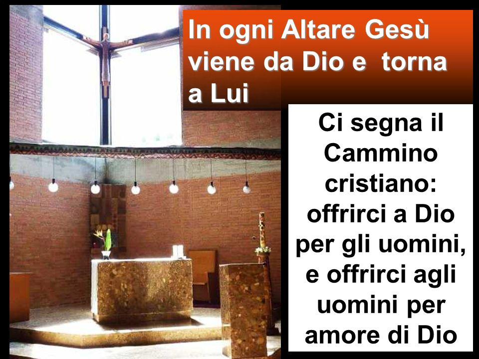 In ogni Altare Gesù viene da Dio e torna a Lui