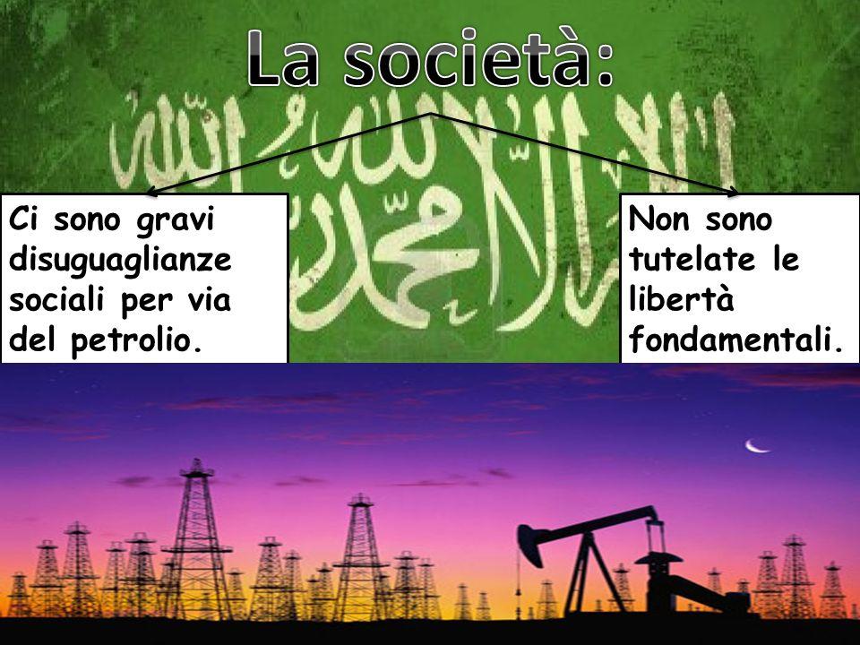La società: Ci sono gravi disuguaglianze sociali per via del petrolio.