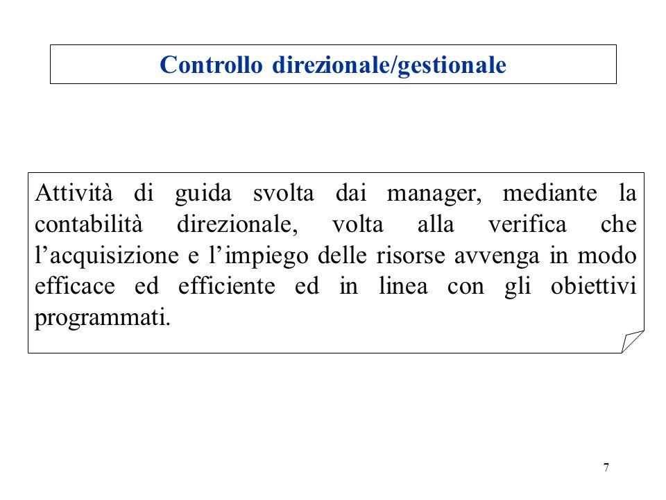 Controllo direzionale/gestionale