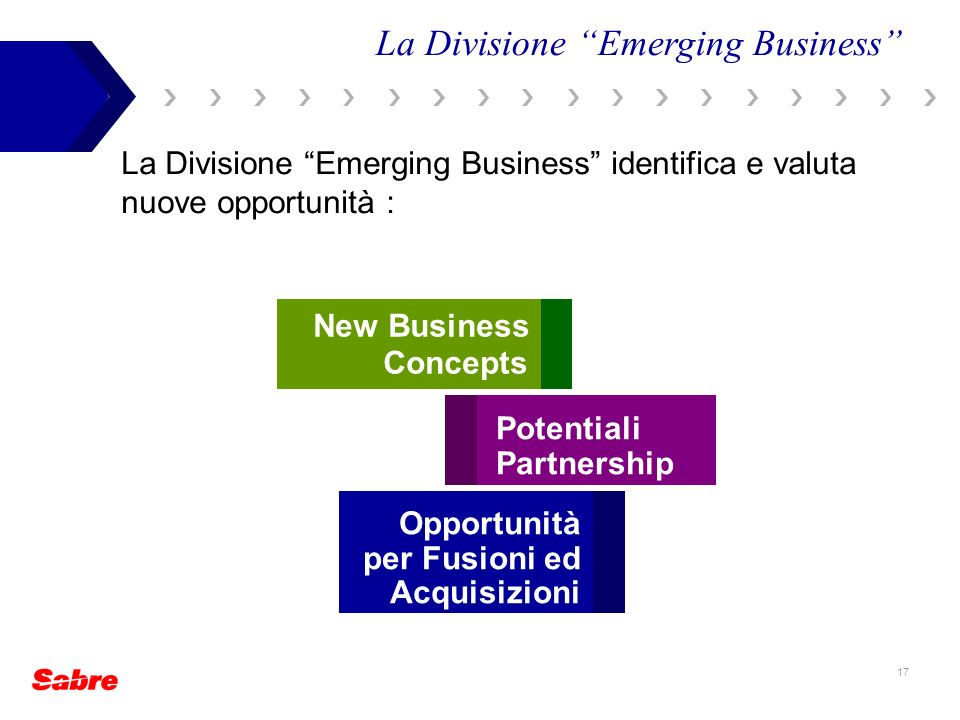 La Divisione Emerging Business