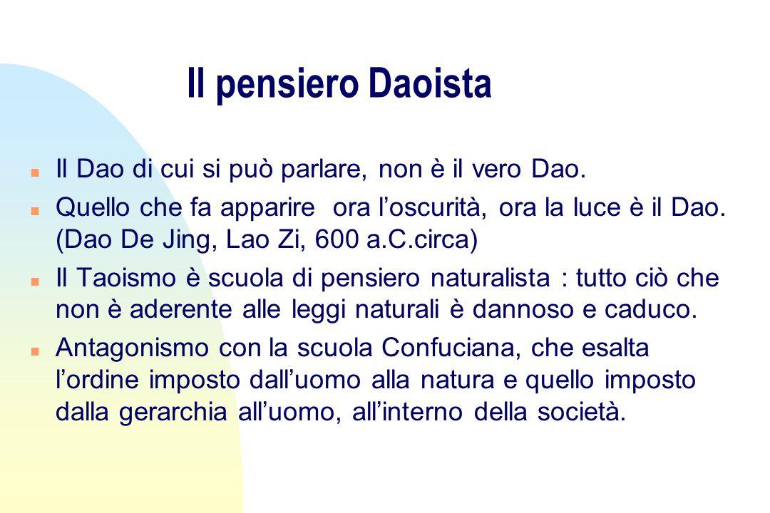 Il pensiero Daoista Il Dao di cui si può parlare, non è il vero Dao.