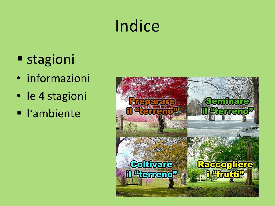 Indice stagioni informazioni le 4 stagioni l'ambiente