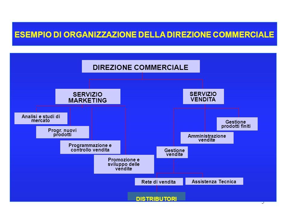 ESEMPIO DI ORGANIZZAZIONE DELLA DIREZIONE COMMERCIALE