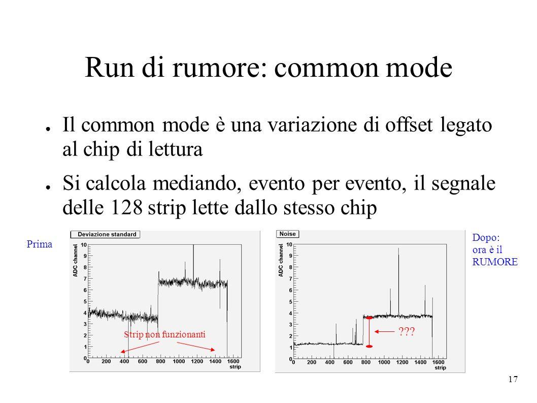 Run di rumore: common mode