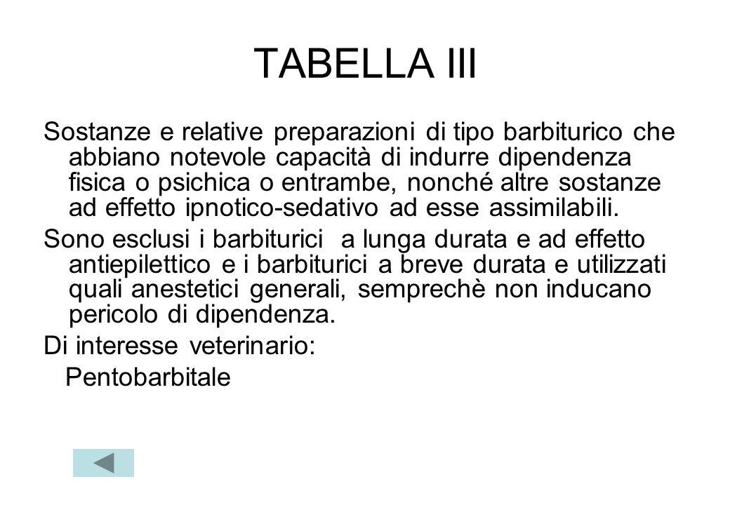 TABELLA III